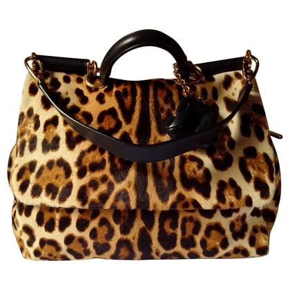 Dolce & Gabbana Handtasche mit Ponyfellbesatz