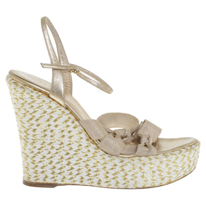 Sergio Rossi Wedges in gold