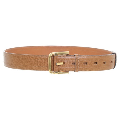 Delvaux Brown leather belt