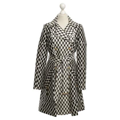 Diane von Furstenberg Trenchcoat in Schwarz/Weiß