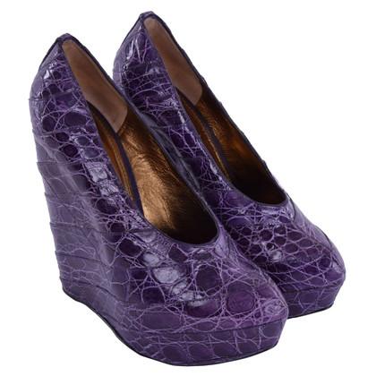 Dolce & Gabbana Plateau-pumps in crocodile skin look