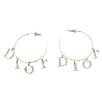 Christian Dior Hoop earrings in silver tone