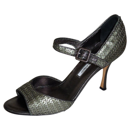Manolo Blahnik Sandals with sequin trim