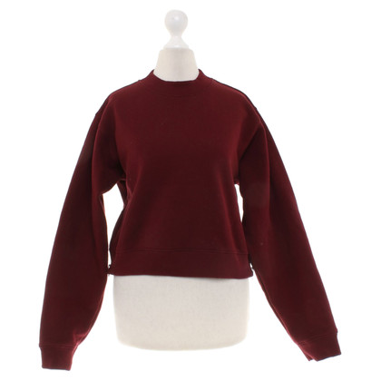 Acne Sweatshirt in burgundy