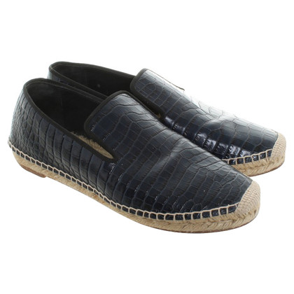 Céline Slipper with reptile embossing