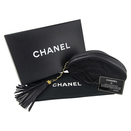Chanel Mini Pouch Schwarz Online-Shopping-Original ZOFzy3