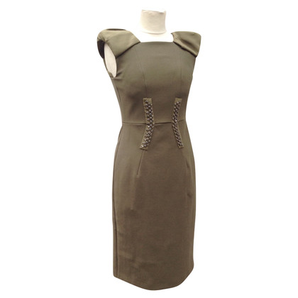 Dorothee Schumacher Sheath dress by Schumacher with Rhinestone in olive green