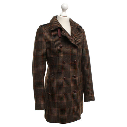 Cinque Coat with check pattern