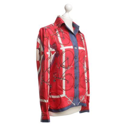 Hermès Silk blouse with motif pattern