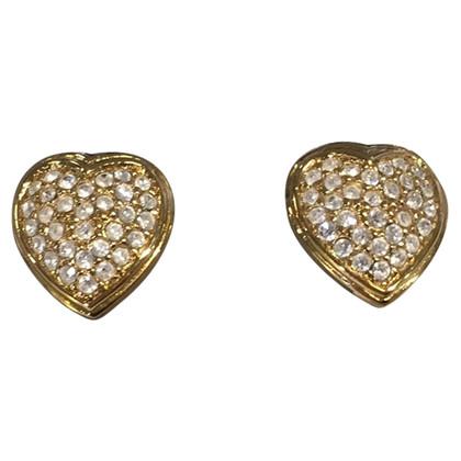Christian Dior Oorbellen hartvormig