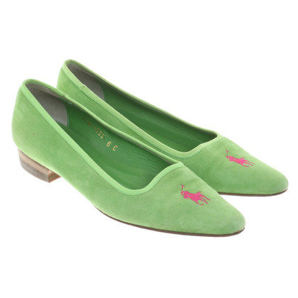Polo Ralph Lauren Green Suede Loafer