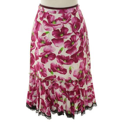 Dolce & Gabbana Gonna in seta con stampa floreale