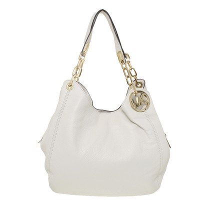 "Michael Kors ""Fulton"" in cream handbag"