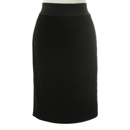 Jean Paul Gaultier Velvet skirt in black