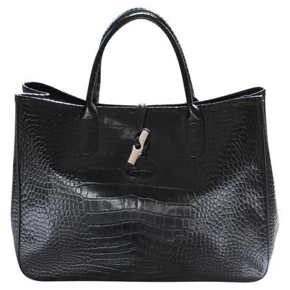 Longchamp Shopper mit Krokodil-Prägung