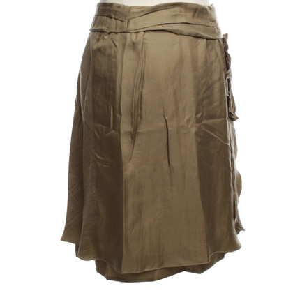 Miu Miu Silk skirt in olive