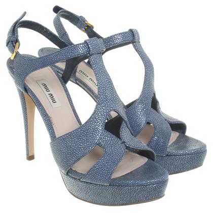 Miu Miu Sandaletten in Blau
