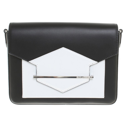 Karl Lagerfeld Shoulder bag in black / white