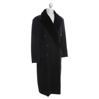 Jil Sander Long coat with fur collar
