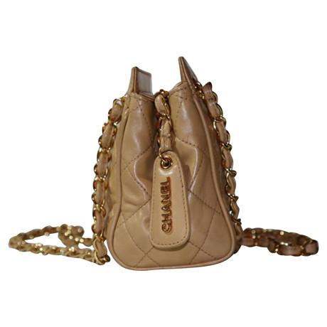 Chanel Vintage Umhängetasche Beige Empfehlen Rabatt NJG5ahV0t