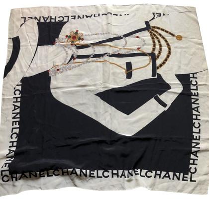 Chanel Seidentuch in Schwarz/Weiß