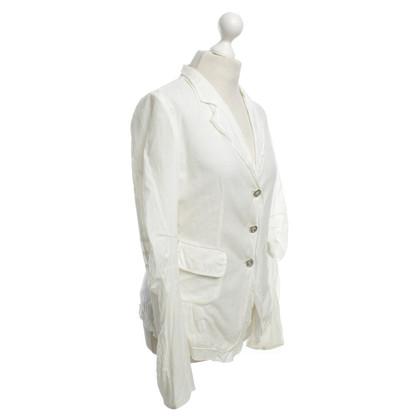 Marithé et Francois Girbaud giacca leggera in crema