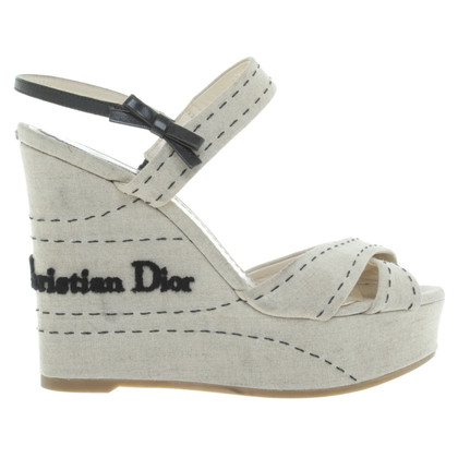 Christian Dior Wedges in Beige