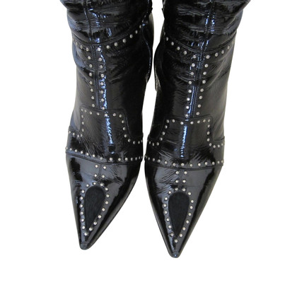 Casadei Leather and pony boot