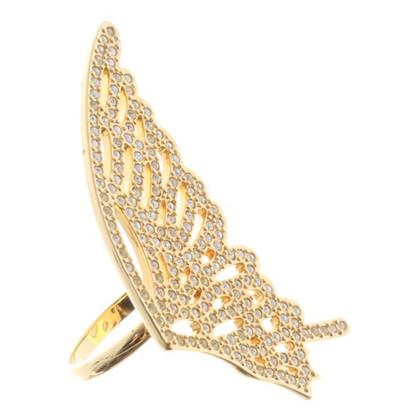 Swarovski Ring with wing motif
