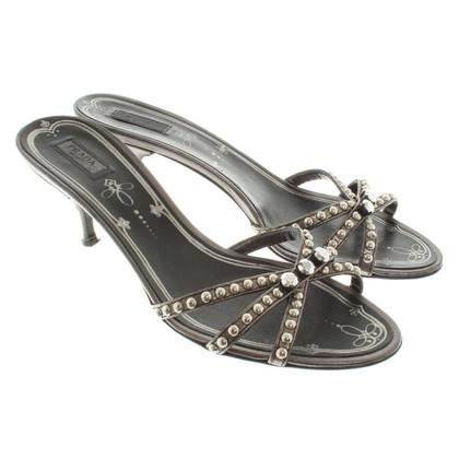 Prada Sandaletten mit Nietenbesatz