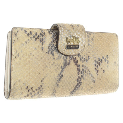 Coach Card case with reptile imprint