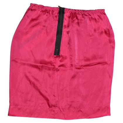 Lanvin fuchsia silk skirt