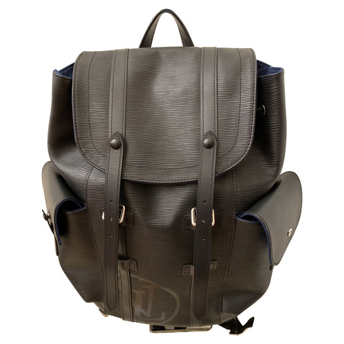d75e86a49ed3 Louis Vuitton Backpack Leather in Black - Second Hand Louis Vuitton ...