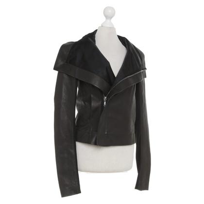 Rick Owens Leather jacket in black