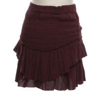 Isabel Marant skirt in Bordeaux red