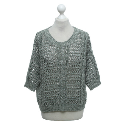 Max & Co Sweater in green / silver