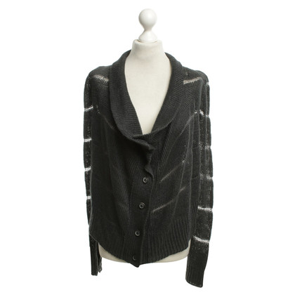 Ann Demeulemeester Cardigan in verde scuro
