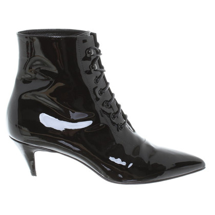 Saint Laurent Ankle boots in black patent leather