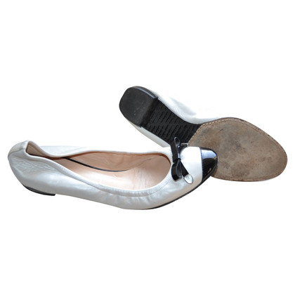 Casadei Leather Ballerinas