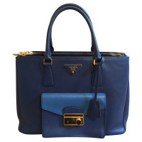 Prada Saffiano Lux Tote with cargo pocket bag