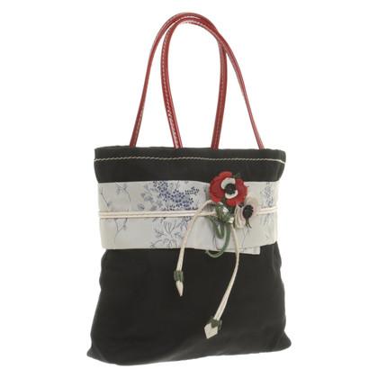 Prada Handtasche mit Applikation