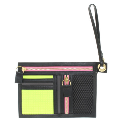 Kenzo clutch in neon colors