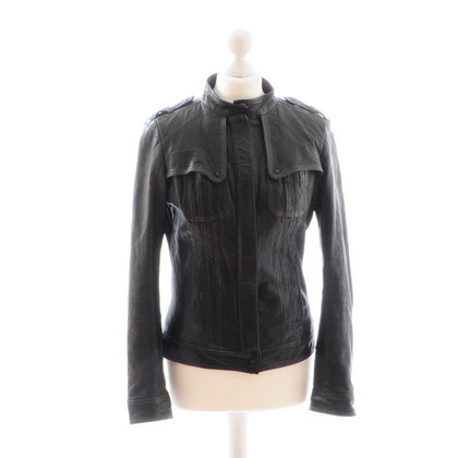 Hugo Boss Leather jacket black