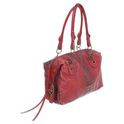 Coccinelle Handbag with reptile optics
