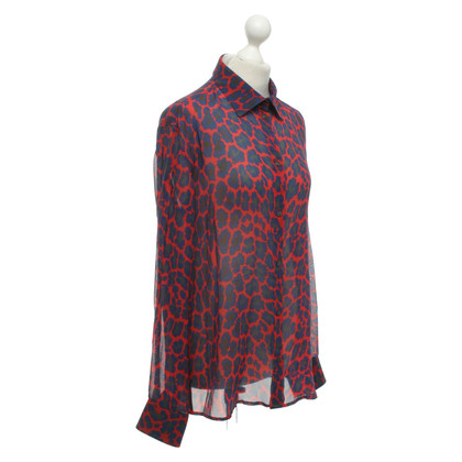 Christopher Kane Silk blouse with pattern