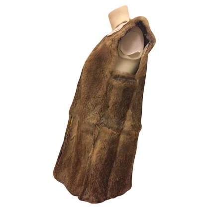 Antik Batik Rabbit fur vest