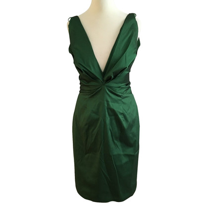 Talbot Runhof Cocktail Dress Emerald Green