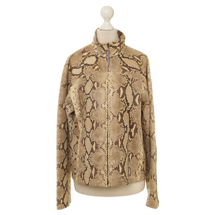 Gucci Python leather jacket