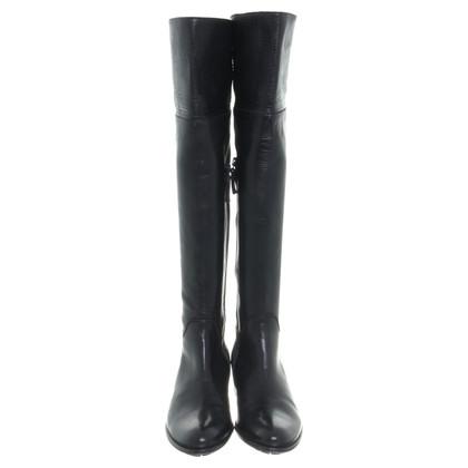 Max Mara Thigh high boots in black