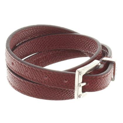 Tod's Lederen armband in Bordeaux